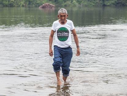 Francisco Firmino, mais conhecido como Chico Catitu, líder ribeirinho na Amazônia.