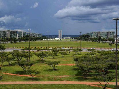 Visão geral da Esplanada dos Ministérios, às vésperas da posse de Jair Bolsonaro