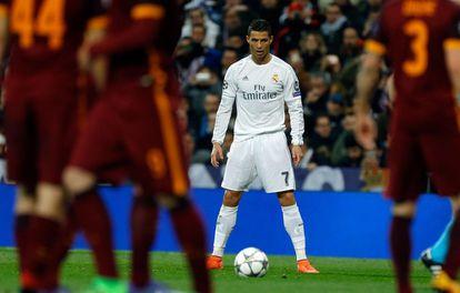 Cristiano Ronaldo durante Real Madrid x Roma.