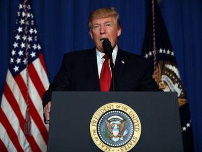 É a primeira intervenção direta de Washington contra o regime de Bashar al Assad. Trump justifica pelo  interesse vital de segurança nacional  dos Estados Unidos