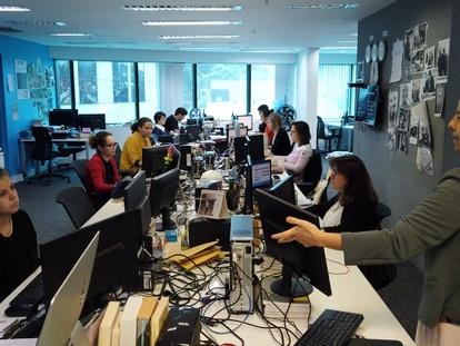 A redação do EL PAÍS no Brasil.