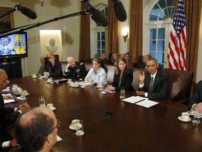 Reunião do Gabinete de Obama responsável pela resposta ao ebola.