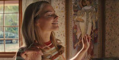 No filme 'Era Uma Vez... em Hollywood', de Quentin Tarantino, Margot Robbie interpreta a atriz assassinada Sharon Tate.