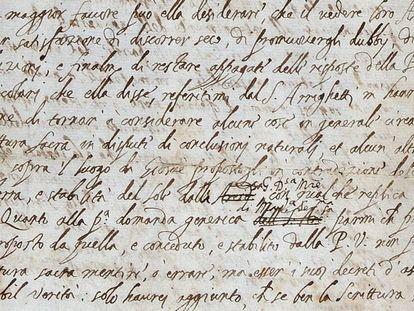 A carta de Galileo.