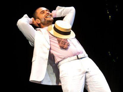 Nogueira, em sua estreia no teatro musical.