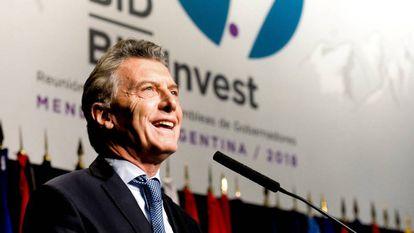O presidente argentino, Mauricio Macri.