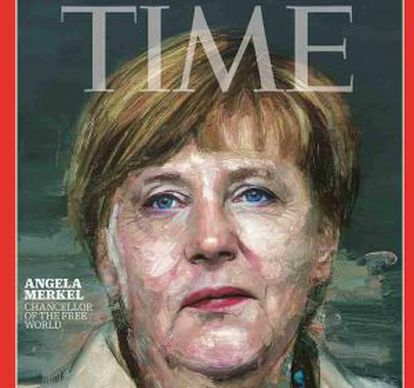 Angela Merkel na capa da revista.