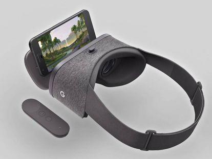 O kit para usar a plataforma de realidade virtual Daydream.