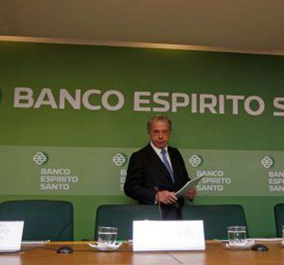 Ricardo Salgado, em uma conferência de imprensa em 2013.