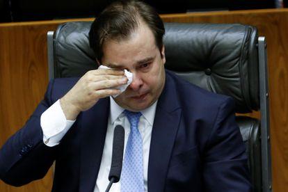 O ex-presidente da Câmara Rodrigo Maia no último dia 1º de fevereiro.