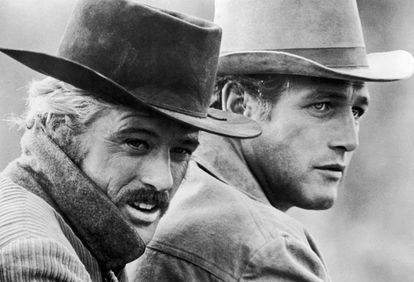 Robert Redford e Paul Newman em 'Butch Cassidy'.