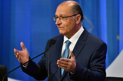 Geraldo Alckmin durante a campanha presidencial de 2018.