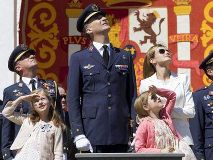 Os Príncipes em uma cerimônia na Academia Geral do Ar em junho deste ano.