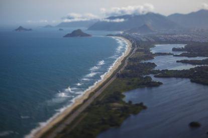 A praia do Recreio, no Rio de Janeiro.
