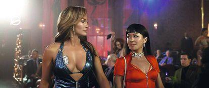 Jennifer Lopez (à esq.) em 'As Golpistas'.