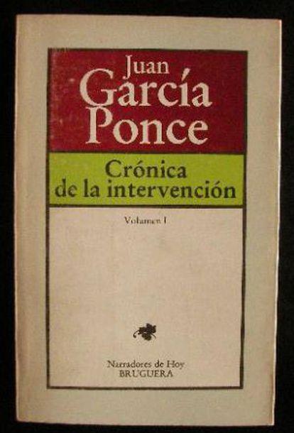 Um dos livros de Juan García Ponce.