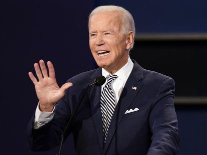 Joe Biden, candidato democrata à presidência dos EUA, nesta terça-feira.