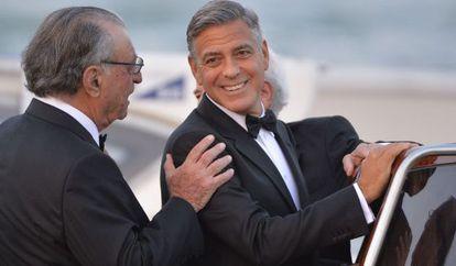 George Clooney, a caminho de seu casamento.