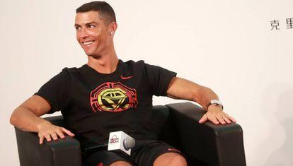 Cristiano Ronaldo, durante uma visita a Pequim, este 19 de julho.