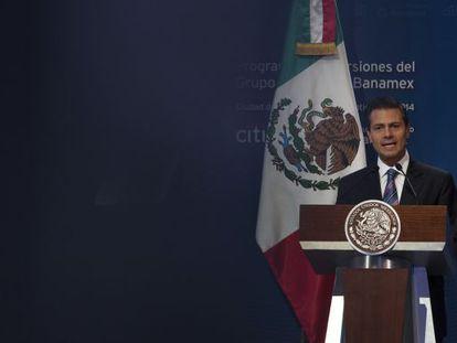 O presidente Enrique Peña Nieto, nesta quinta-feira.