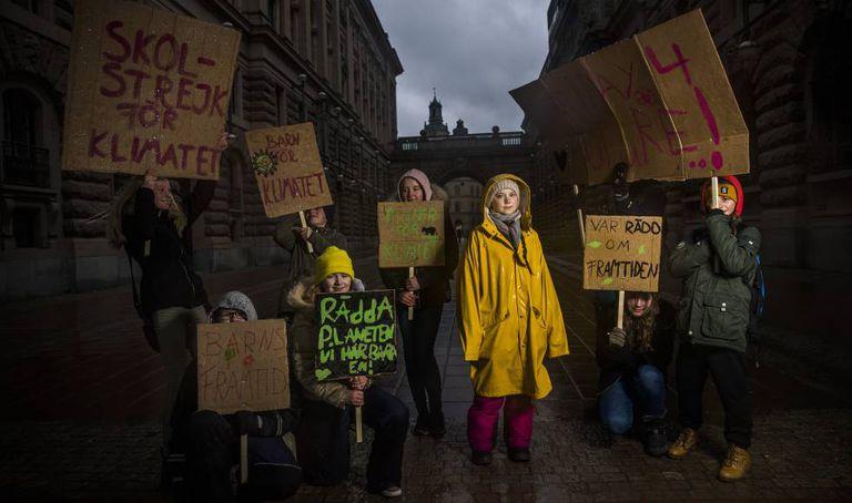 Greta Thunberg, na sexta-feira em Estocolmo.