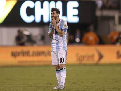Messi perdeu pênalti na decisão.