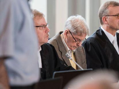 Reinhold Hanning nesta quinta-feira no tribunal de Detmold.