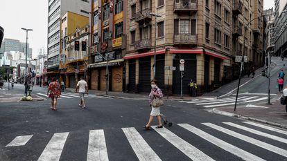 As ruas de São Paulo durante a pandemia em dezembro de 2020.