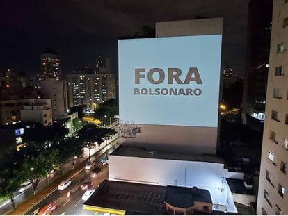 Protesto contra Bolsonaro do coletivo @projetemos.