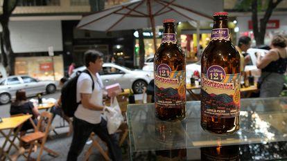 Cerveja Belorizontina em bar da capital mineira.