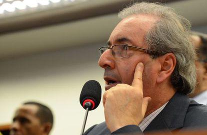 O líder do PMDB na Câmara, Eduardo Cunha.