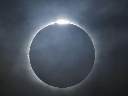 Momento do eclipse total.