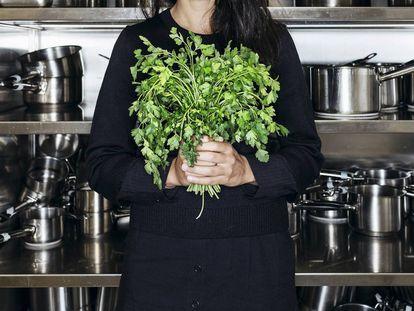 Bela Gil, na cozinha do Basque Culinary Center