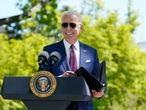 Joe Biden, en los jardines de la Casa Blanca.