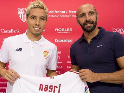 Nasri se apresentou ao Sevilla.
