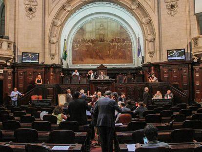 Plenário da Assembleia Legislativa do RJ (Alerj) nesta quinta-feira, 13