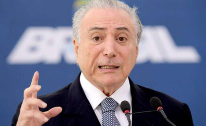 Michel Temer no Palácio do Planalto na quarta-feira.