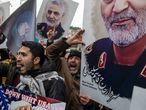 Manifestación en protesta por el asesinato de Qassem Soleimani frente al consulado de EE UU en Estambul, Turquía, el 5 de enero.