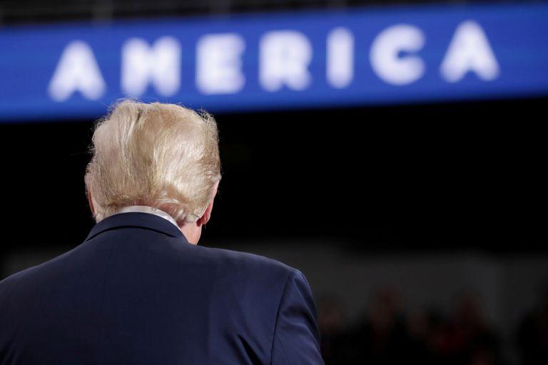 Presidente Donald Trump durante visita a Ohio, nos Estados Unidos.