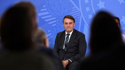 Jair Bolsonaro, durante evento em Brasília, em 9 de fevereiro.