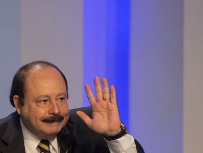 Levy Fidelix durante o debate na TV Globo.
