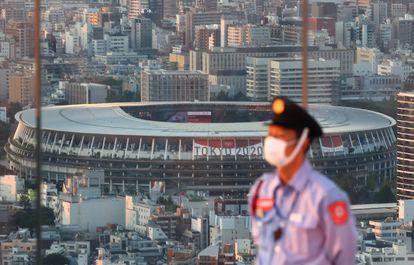 O Estádio Nacional de Tóquio, nesta segunda-feira, 19 de julho.