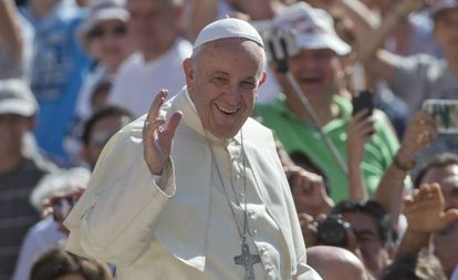 O papa Francisco, na praça de São Pedro do Vaticano.