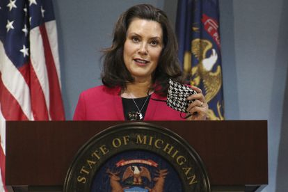 A governadora de Michigan Gretchen Whitmer