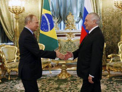 Putin pleiteia aumentar papel russo no complexo nuclear de Angra dos Reis