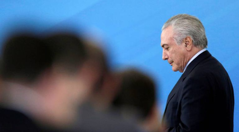 Michel Temer no último dia 29, no Palácio do Planalto.