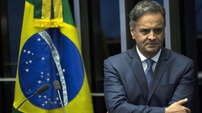 O senador Aécio Neves, em imagem de 2017.