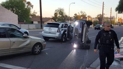 Acidente de um carro do Uber em Tempe (Arizona).