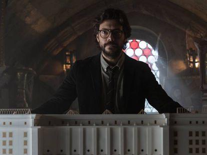 Álvaro Morte, El Profesor en 'La casa de papel'.