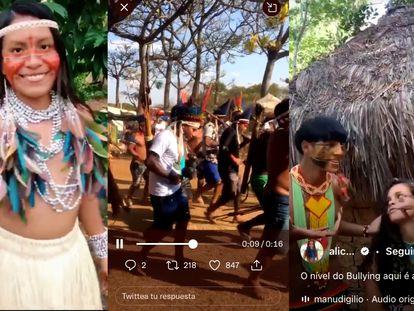 Jóvenes indígenas de Brasil utilizan sus redes sociales para promover sus culturas.